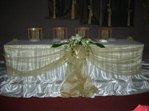 Драпировка свадебного стола