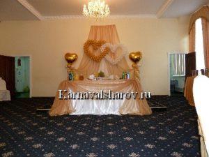 Декор стола на свадьбу тканями