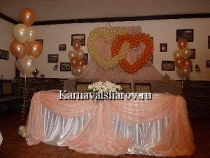 Декор свадебного стола шарами