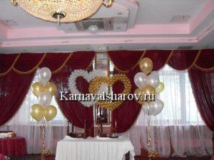 Украшение стола жениха и невесты тканью