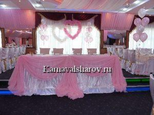 Драпировка стола на свадьбу