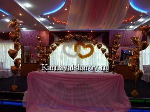 Драпировка свадебного стола тканями