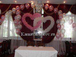 Украшение свадебного стола тканями