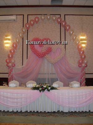Украшение свадебного стола тканью