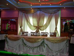 Оформление свадебного стола шарами