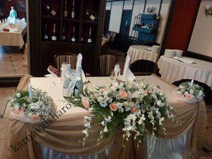 Драпировка стола жениха и невесты