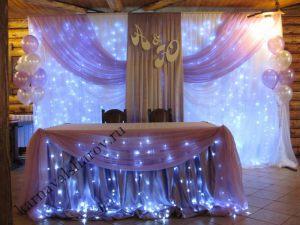 Оформление стола на свадьбу шарами