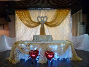 Декор стола на свадьбу цветами