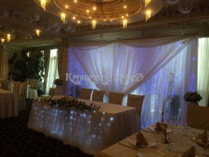 Оформление зала на свадьбу идеи