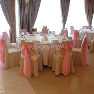 Оформление банкетного зала на свадьбу красиво