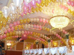 Украшение зала на свадьбу недорого в Москве