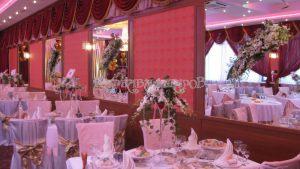 Украшение банкетного зала на свадьбу примеры