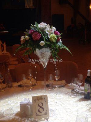 Украшение зала на свадьбу красиво